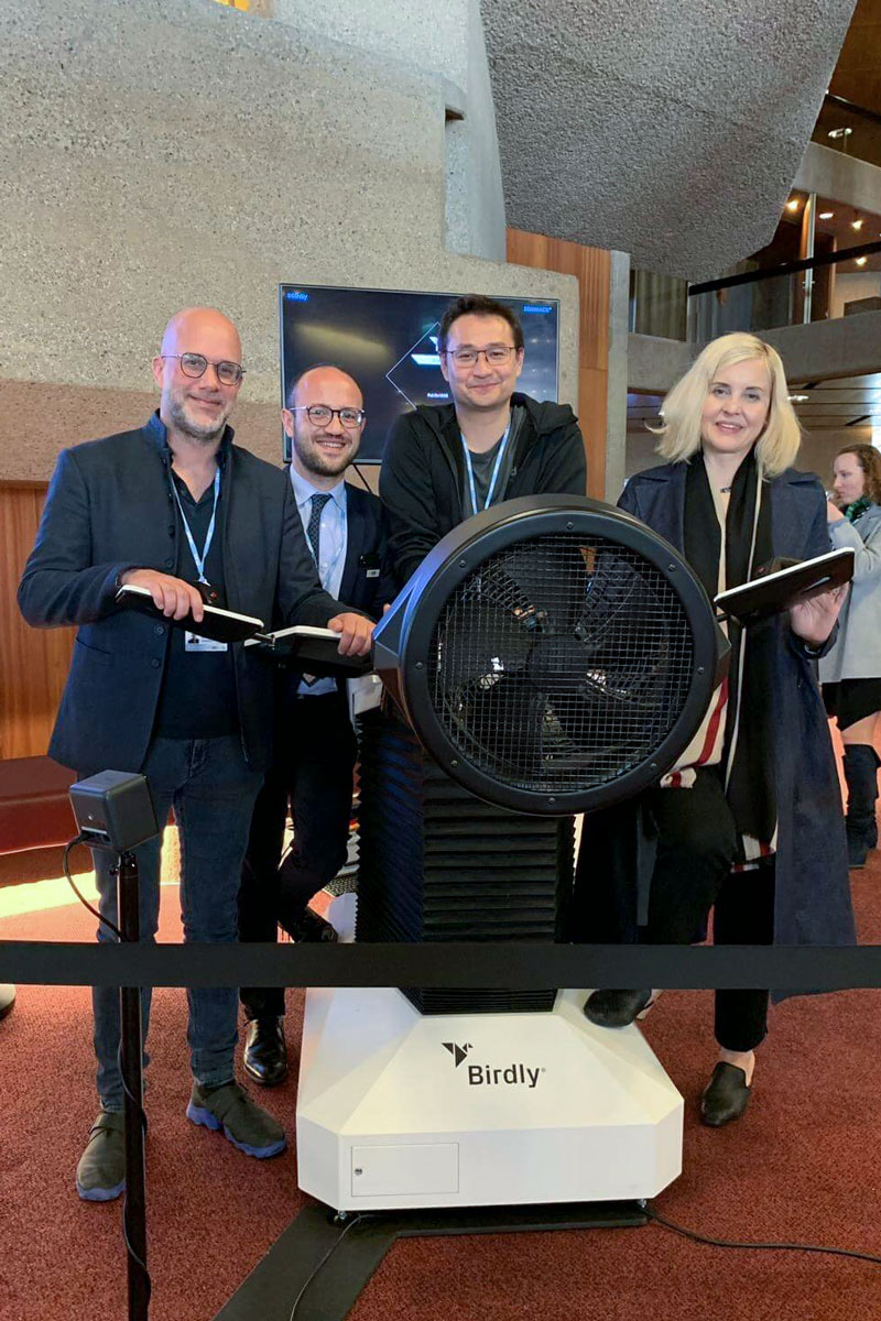 World XR at WSIS 2019 in Geneva - Birdly