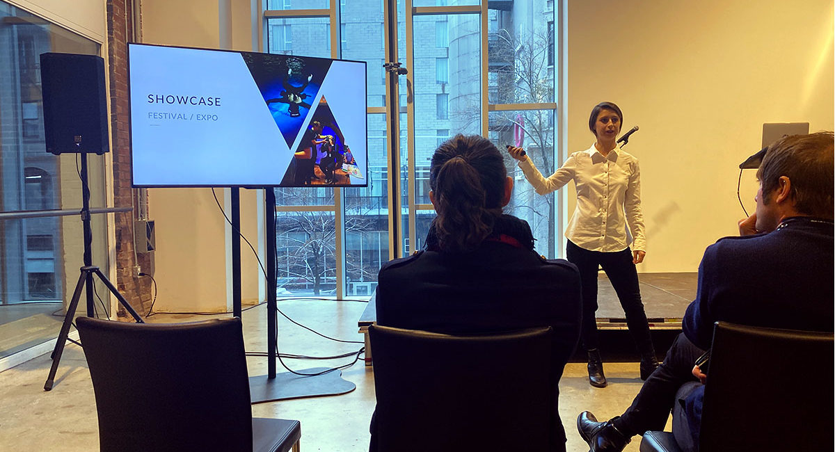 World XR invited to HUB Montreal by the Canadian Embassy in Bern, presented by Camille Martinez